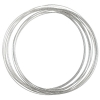 Beadalon German Style Wire 22ga Silver Fancy Sq 3.5m(11.5ft)